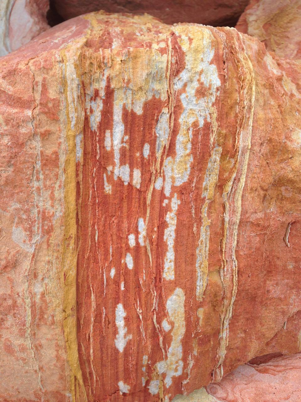 Nature's artwork at Gantheume Point