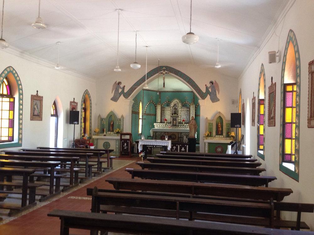 Inside the Sacred Heart Church