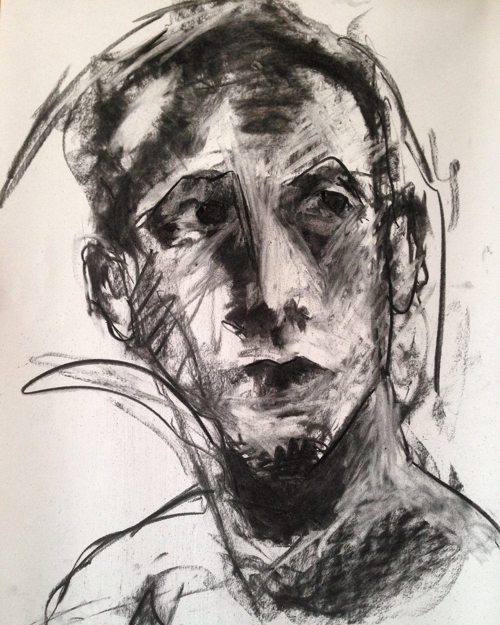 Five minute dynamic sketch, charcoal on paper
