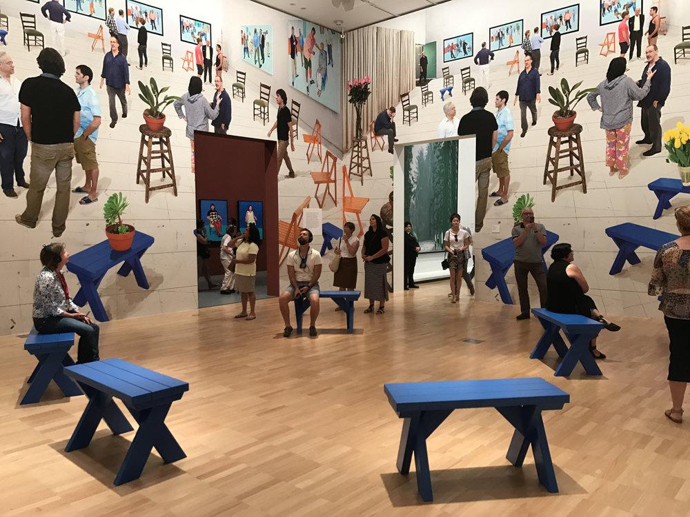 Blue stools, 2014
