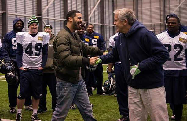(Drake with the Seahawks)