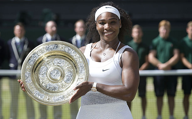 (Serena Williams wins Wimbleton 2015)