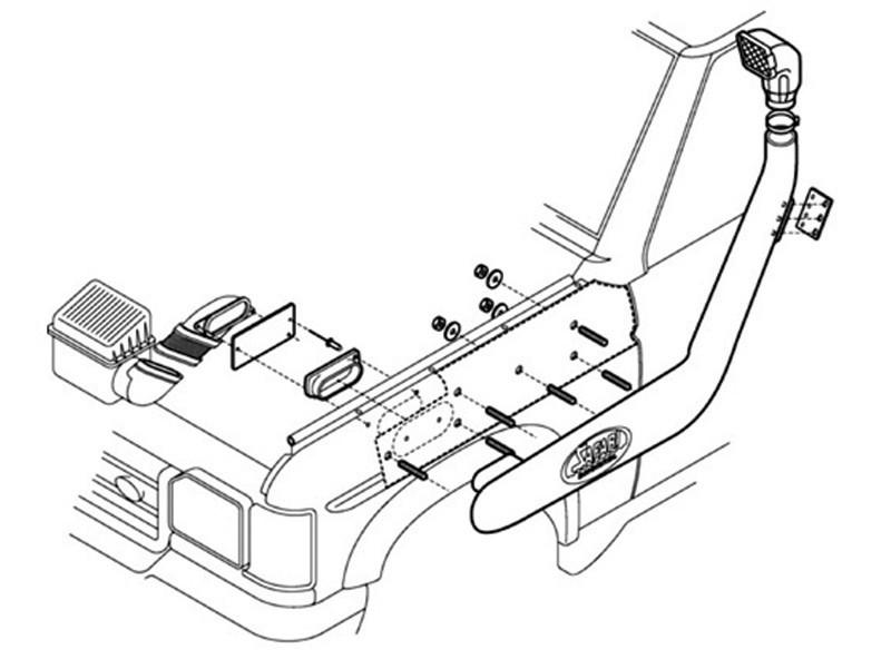 Safari Defender Td5 : Tdci (ABS) Snorkel_2.jpg