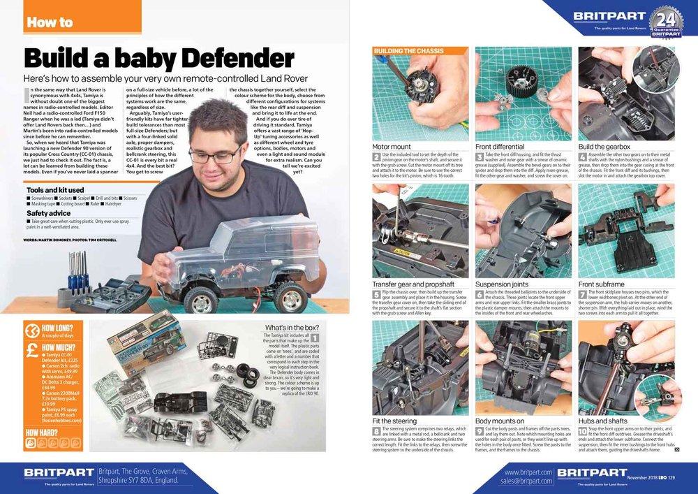 Land Rover Owner International magazine November 2018 — LRO