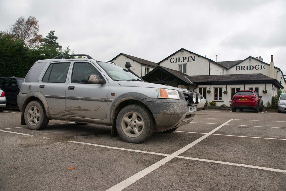 LRO 1.8 Freelander gets a quick break