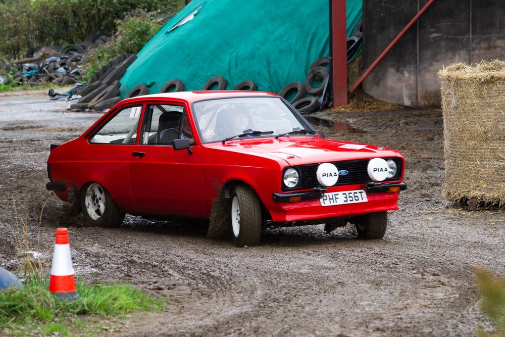 Overall winners Guy Woodcock & Ali Cooper, Ford Escort 2000