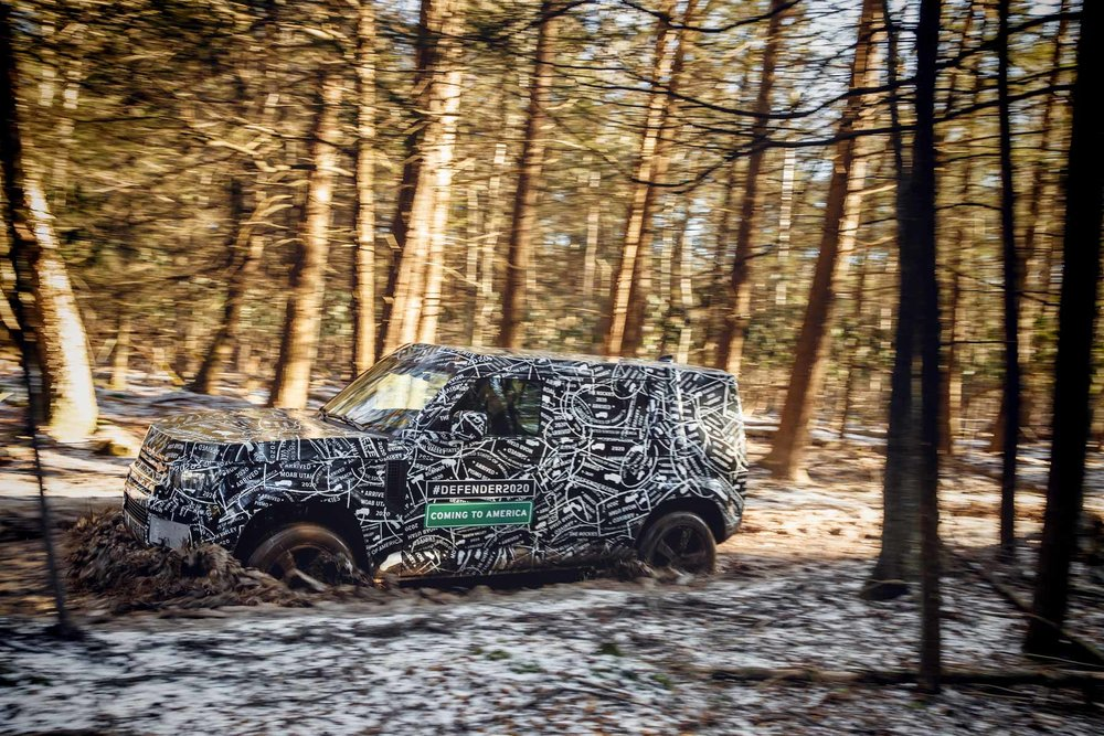 New Defender mule testing in North America