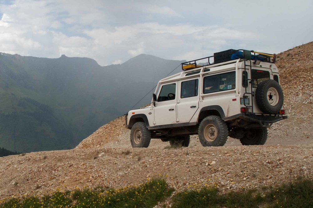 Original NAS Defender 110 in the Rocky Mountains, Colorado