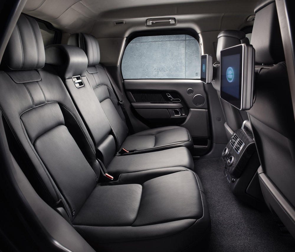 All that armour encroaches into the cabin, but there's more space in the upgraded Range Rover Sentinel.