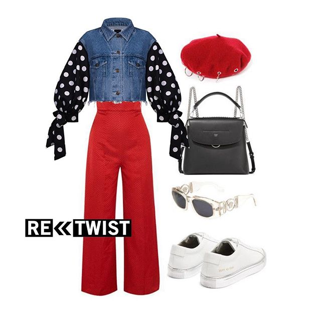 Red & Dot. @retwist_official  #outfit #outfitsideas #collage #style #retwist #retwistofficial