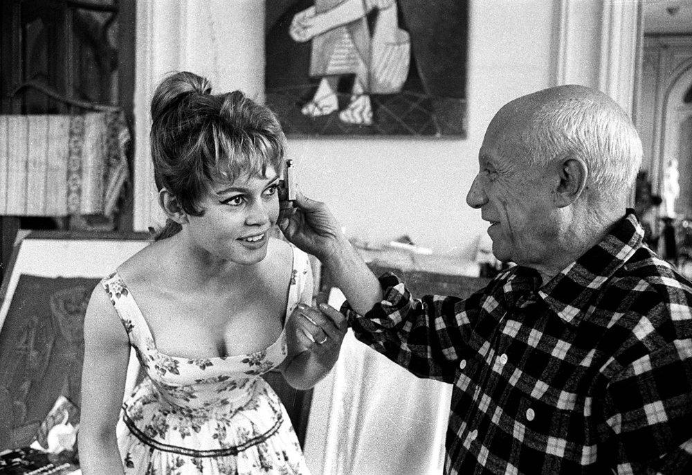 Brigitte Bardot with Pablo Picasso