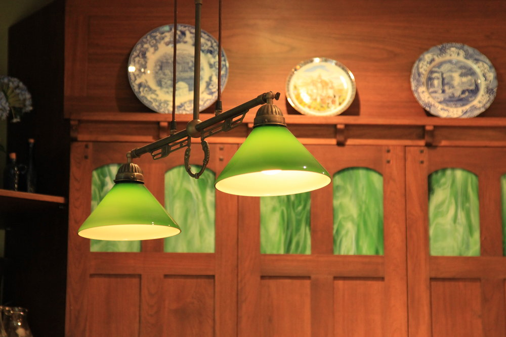 classic lighting elements throughout the manor house