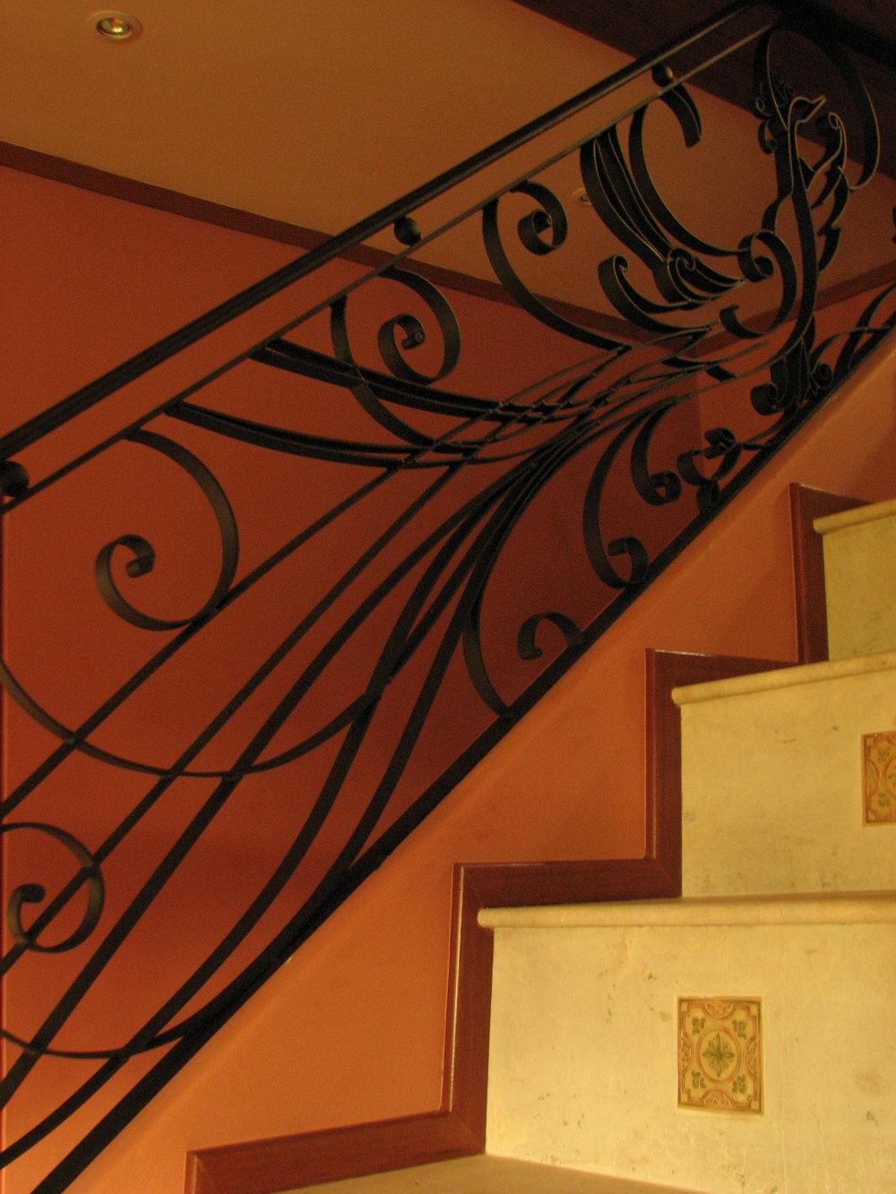 wrough iron staircase