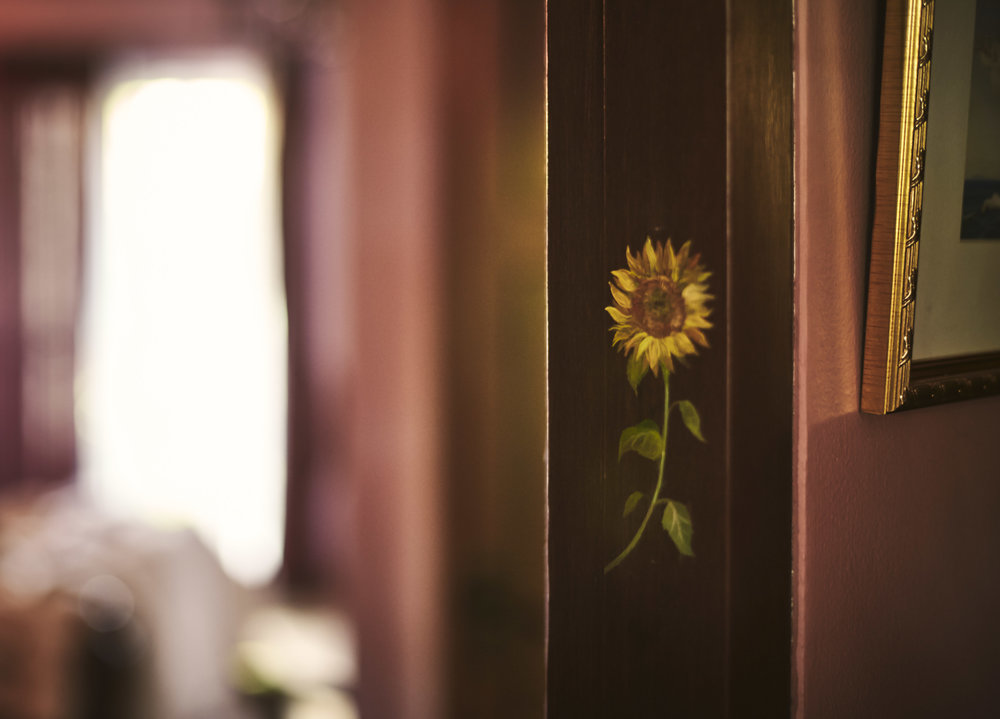 Sunflower bedroom door emblem