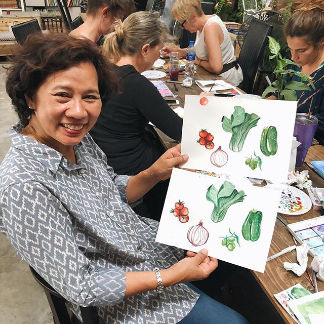 Happy Mothers Day to all our friends and family in the West! Apparently my mom can do it all - look at her water color skills! Big shout out to @hanna.dukhnivska for hosting such a fun workshop.