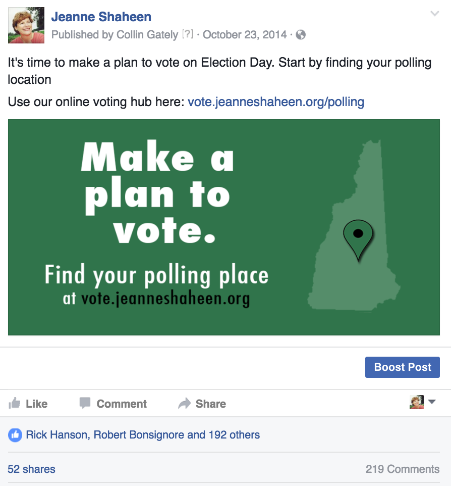 Facebook GOTV graphic