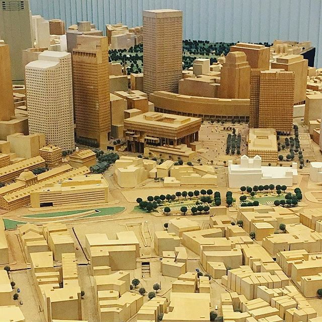 On the 9th floor of City Hall there is a very cool scale model of Boston that you are definitely not allowed to touch (again, I apologize).