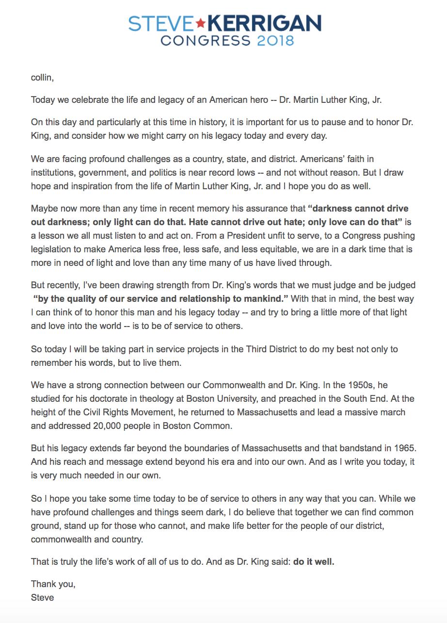 Kerrigan MLK email.png