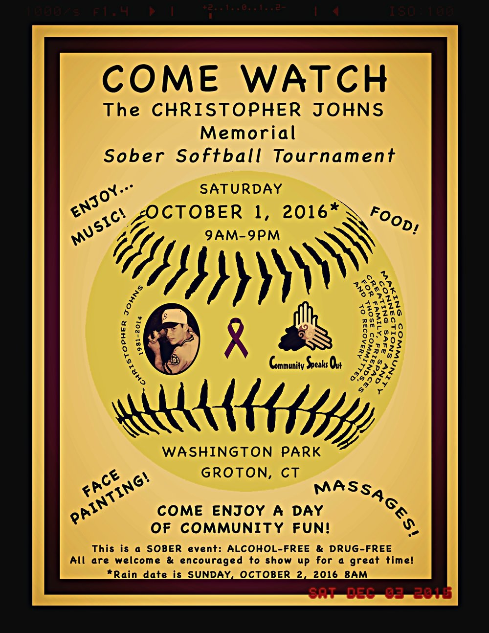 THE CHRISTOPHER JOHNS SOBER SOFTBALL TOURNMENT