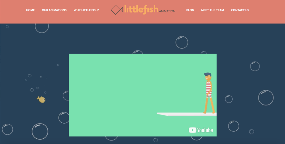 Little Fish Animation - Creating a visually engaging website that makes a difference in the world of digital.