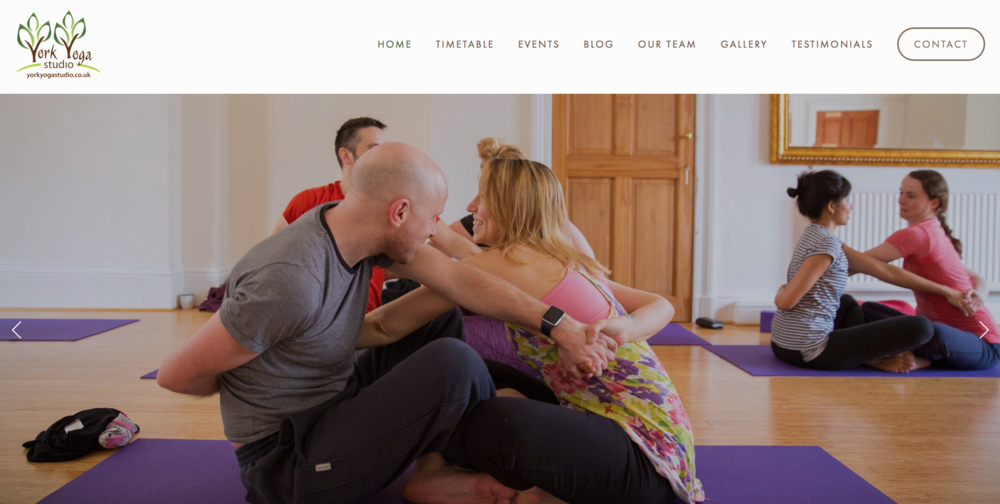 York Yoga Studio - Making a studio stand out using original and welcoming visual marketing.