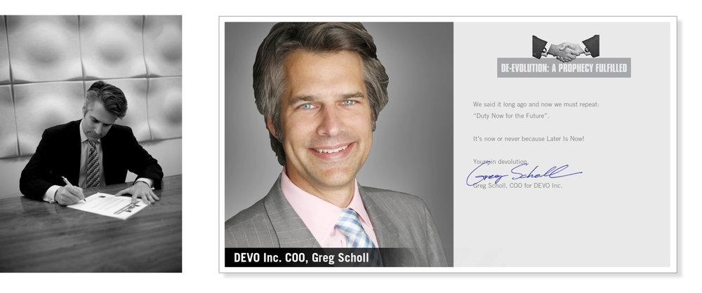 Greg Scholl, COO, Devo Inc.