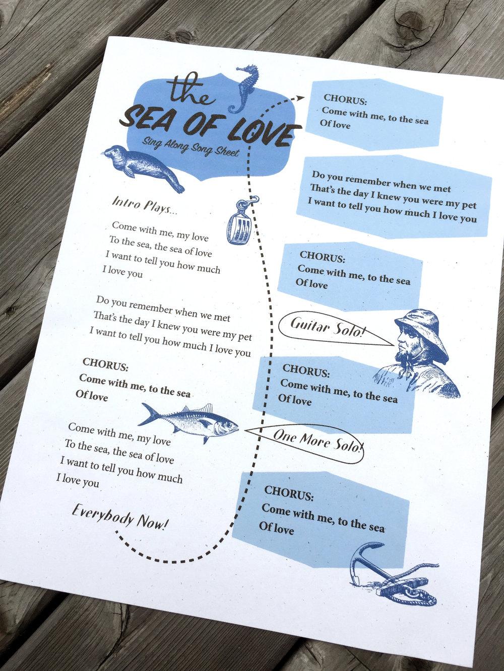 'Sea of Love' Song Sheet