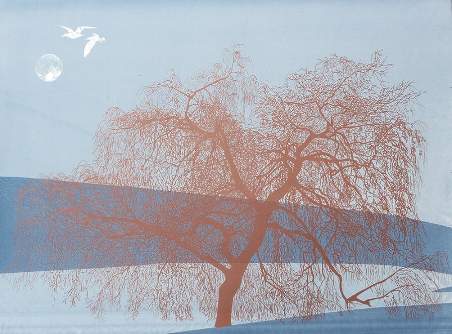 Willow with Seagulls by Anna Harley