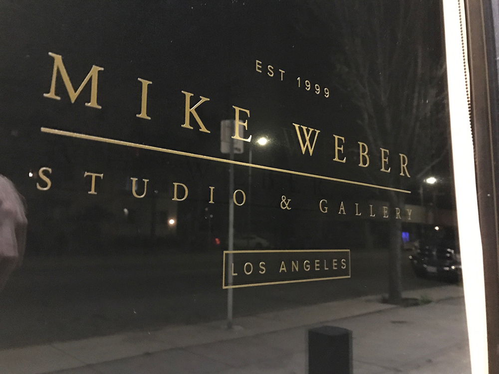 Mike Weber new gallery space, Los Angeles