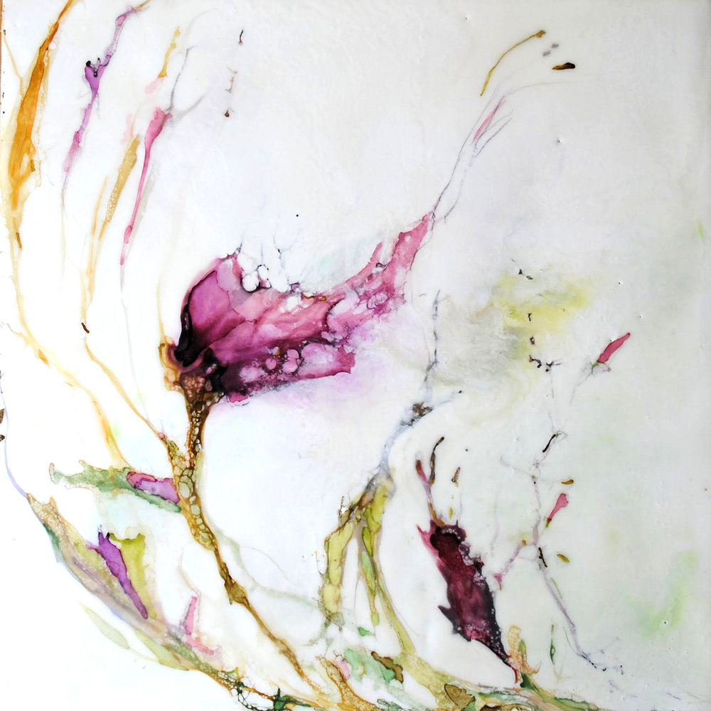 """New Beginnings"" - Encaustic wax painting by Lynne Miller"