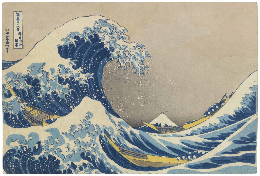 The Great Wave of Kanagawa. 1830-32 - Katsuhika Hokusai