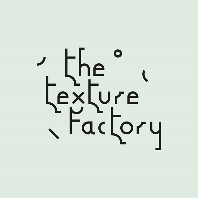 Sooo happy with the *new* Texture Factory logo designed by the wonderful @rohit.sharma10  I wanted something geometric and contemporary with a hint of playfulness, I think he nailed it 👏👏 The website is getting a makeover over the next few days ready for @newdesigners and then graduating in summer 🙌🙌