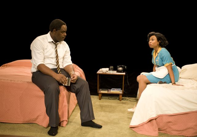 Camae in 'The Mountaintop' by Katori Hall at Milwaukee Repertory Theatre, directed by May Adrales.