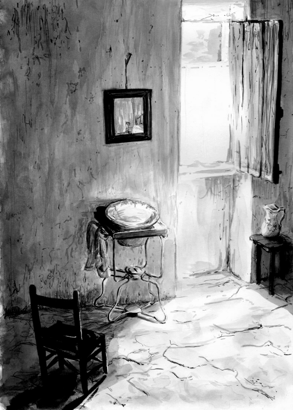 """Ilustración para """"La costumbre"""", basada en el """"Nu provençal"""" de Willy Ronis (1936)."""
