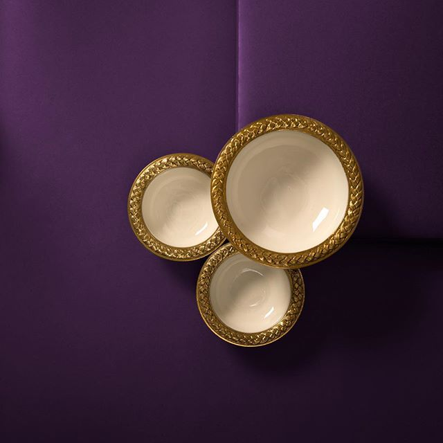 Trinity of Braid Bowls  #classic #entertaining #deeppurple #elegance  #handmade #gift #NYNow #art