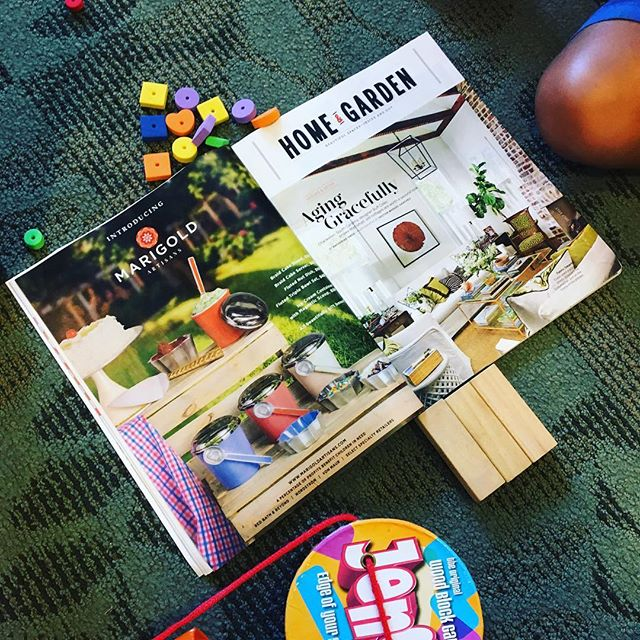 Our advertisement in August's @southernlivingmag with Creative Director @aret_tikiryan 's son Thadeus playing @jenga