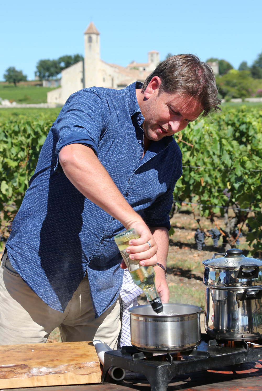 Cooking in the vineyards of Château Cheval Blanc in Saint-Émilion