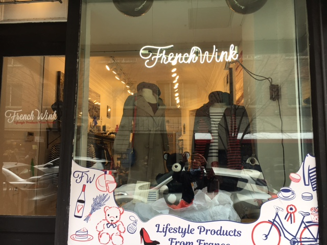 Our pop-up store window in Soho - we were on Mulberry Street from February 10th to the 14th.