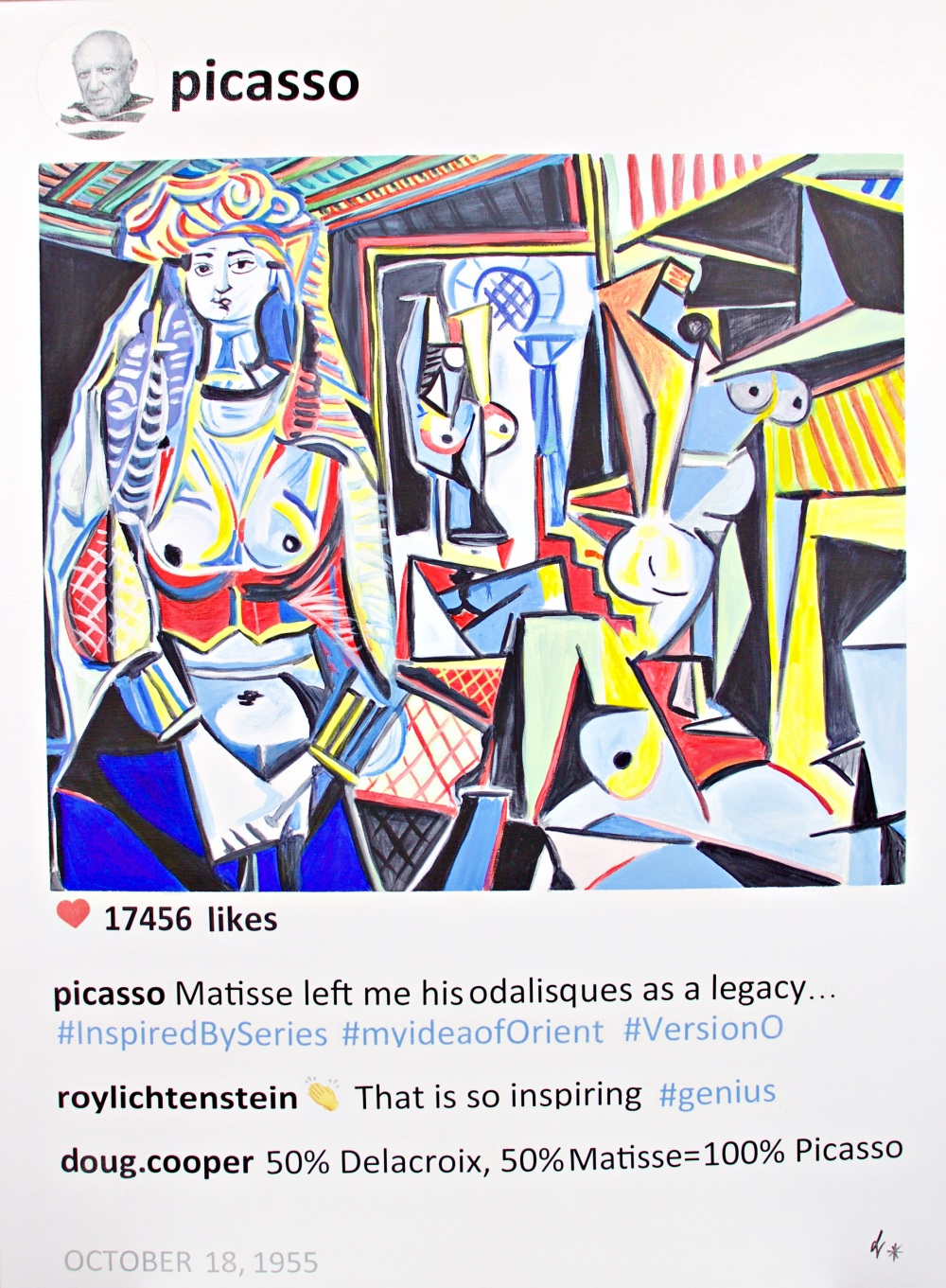 Laurence De Valmy, Post Serie ''Picasso Odalisque''
