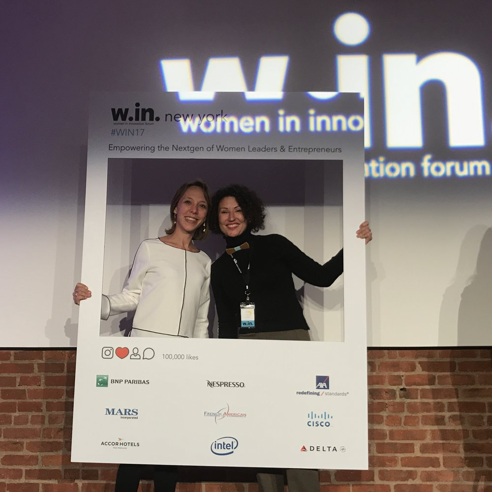 Myline et Claire au Women Innovation Forum 2017