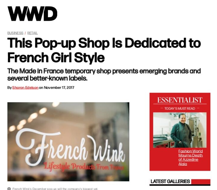 Women's Wear Daily - The Made in France temporary shop presents emerging brands and several better-known labels.