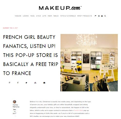 Makeup.com - French girl beauty fanatics, listen up! This pop-up store is basically a free trip to France.