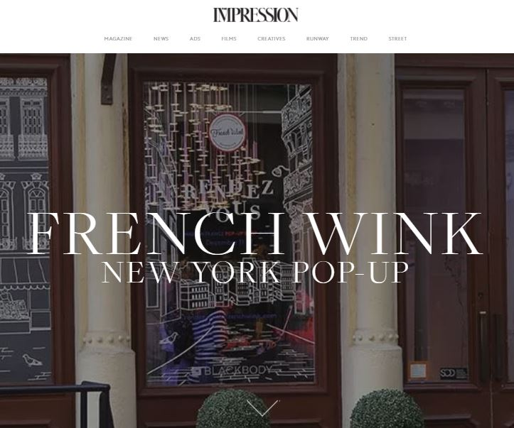 The Impression - French Wink opens a holiday pop-up in SoHo, offering fashion, food and beauty products from French brands.