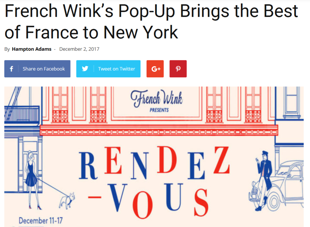 Frenchly - French Wink's Pop-Up Brings the Best of France to New York