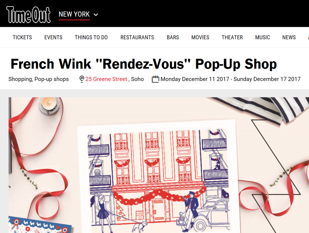 Time Out - French girl chic is taking over Soho for one week with French Wink's Rendez-Vous pop-up shop dedicated to French products from emerging brands and classic labels like Saint James and Jacadi.