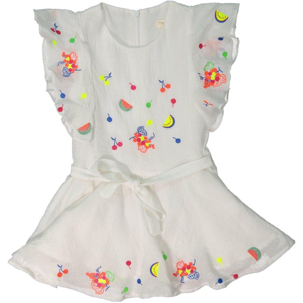 White crepe Tigresse Dress