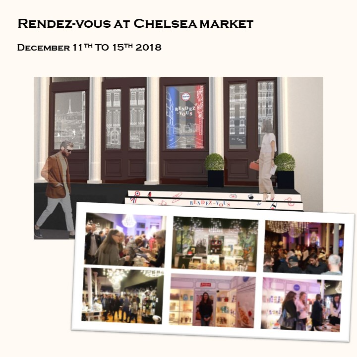 December 2018 - Be a part of our Holiday Pop-Up Shop into Chelsea Market (75,000 visitors a day!).contact@frenchwink.com