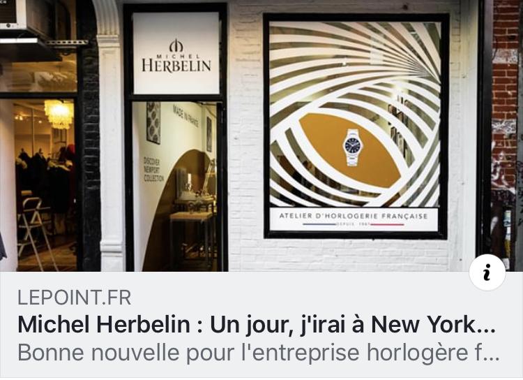 Le Point - ''Pour marquer l'événement, la marque horlogère s'est associée avec les Françaises new-yorkaise de French Wink, Myline Descamps & Claire Obry, spécialisées dans la mise en avant de l'art de vivre à la française, pour ouvrir une boutique éphémère.'' - 21 novembre, 2018.