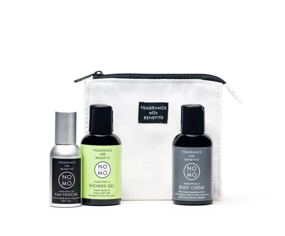 NO MO Eau Fraiche and Refill Set by Fragrance with Benefits   $115