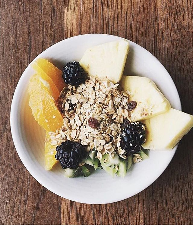 Start your morning off right with our summer seasonal fruit and yogurt bowl ☀️🍍 📷: @ashleyjaane